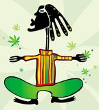 Rastaman with dreadlocks. Vector illustration of rastaman with dreadlocks Stock Photos