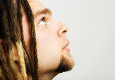 Rastaman looking up. Royalty Free Stock Photos