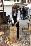 Rastaman wood worker Royalty Free Stock Photos