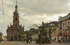 Rastatt centrum miasta Zdjęcia Royalty Free