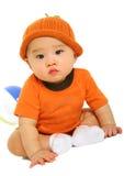 Rastejamento adorável do bebê Fotografia de Stock Royalty Free