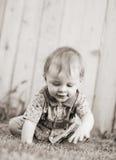 Rastejamento do bebé Imagens de Stock