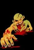 Rastejamento do zombi Fotografia de Stock