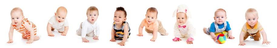 Rastejamento dos bebês Imagens de Stock
