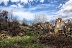 Rastelica village and destroyed houses Royalty Free Stock Photography