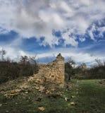 Rastelica village,destroyed serbian house. Rastelica village and destroyed house. War in Bosnia and Herzegovina stock photo