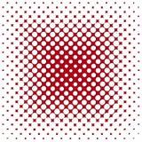 Raster. Organic red circle raster in square matrix vector illustration