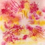 Raster akwareli akwareli abstrakcjonistyczny tło, abstrakcjonistyczna akwareli tekstura Obrazek ręką bell świątecznej element pro Zdjęcia Royalty Free