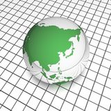 Raster asia globe Royalty Free Stock Images