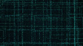 Raster av glödande partiklar för blått stock video