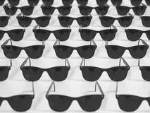 Raster av svart solglasögon Royaltyfri Foto