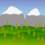 Raster Background with Mountains  5 Royalty Free Stock Images