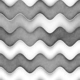 Raster Bezszwowa Greyscale tekstura Gradientowy Falisty linia wzór abstrakcjonistycznego tła ilustracyjny subtelny wektor Fotografia Stock