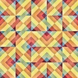 Raster-blockiert nahtloser Schrägstreifen-Quadrat Irregular Gitter-Schmutz-Retro- Muster Lizenzfreie Stockfotos