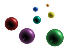 Raster color balls Stock Photos