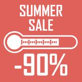 Huge summer discounts for 90 percent royalty free illustration
