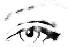 Raster eye with dots vector illustration