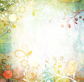 Raster Floral Grunge Background Royalty Free Stock Photo