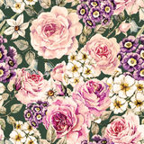 Raster floral pattern Royalty Free Stock Images