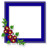 Raster frame branch pansy Stock Images