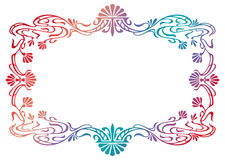 Raster gradient filled art nouveau picture frame Royalty Free Stock Images