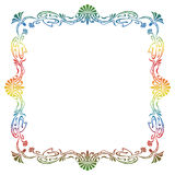Raster gradient filled art nouveau picture frame Royalty Free Stock Image