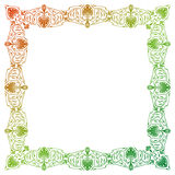 Raster gradient filled art nouveau picture frame Royalty Free Stock Photography