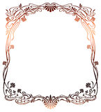 Raster gradient filled art nouveau picture frame Stock Photo