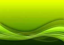 Raster green background. Raster blue background with light shiny waves Stock Photo
