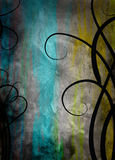 Raster Grunge Floral Background Royalty Free Stock Photo