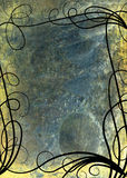 Raster Grunge Floral Background Stock Photo