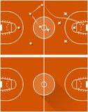 Raster illustration of strategy of a basketball game Royalty Free Stock Photography