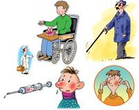 Raster illustrations about healthcare and medicine Royalty Free Stock Photography