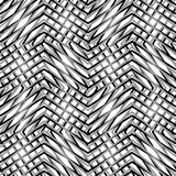 Raster ingrepp, av sicksacken, lättretliga linjer Mosaik som gallret, gnisslande lodisar royaltyfri illustrationer
