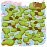 Raster-Labyrinth, Logik-Spiel für Kinder Lizenzfreies Stockfoto