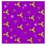 Raster med molekylbakgrund Fotografering för Bildbyråer