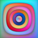 Raster-Mehrfarbensteigungs-konzentrische Kreis-abstrakter Hintergrund Lizenzfreies Stockfoto