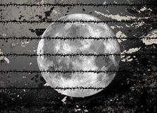 Raster moon illustration Royalty Free Stock Image