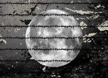 Raster moon illustration Royalty Free Stock Image