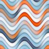 Raster-nahtlose blaue Orange zeichnet Steigungs-gewelltes Streifen-Muster Stockfotos