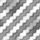Raster-nahtlose Greyscale Beschaffenheit Steigungs-gewellte Linien Muster Subtiler abstrakter Hintergrund Stockfotografie