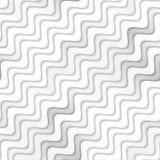 Raster-nahtlose Greyscale Beschaffenheit Steigungs-gewellte Linien Muster Subtiler abstrakter Hintergrund vektor abbildung