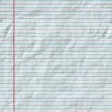 Raster-nahtlose horizontale Linien auf gefalteter Papierbeschaffenheit Lizenzfreies Stockbild