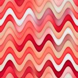 Raster-nahtlose rote rosa weiße Farbe schattiert Steigungs-gewellte Linie marmorndes Effekt-Muster Lizenzfreies Stockfoto