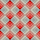 Raster-nahtloser diagonaler roter blauer Tan Stripe Rhombus Blocks Grid-Schmutz-Retro- Muster Lizenzfreies Stockbild