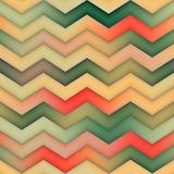 Raster-nahtloser Zickzack rote grüne Tan Gradient Chevron Pattern Stockbilder