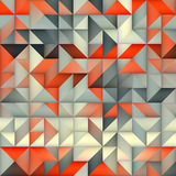 Raster-nahtloses orange Grey Gradient Triangle Irregular Grid-Quadrat-Muster Lizenzfreies Stockfoto