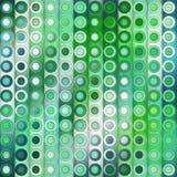 Raster nahtloses Teal Shades Gradient Vertical Stripes und Kreis-Muster Lizenzfreie Stockbilder