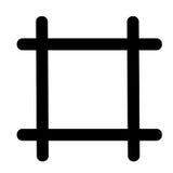 Raster orienteringssymbol vektor illustrationer