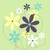 Raster-A pretty background of daisies Royalty Free Stock Photos